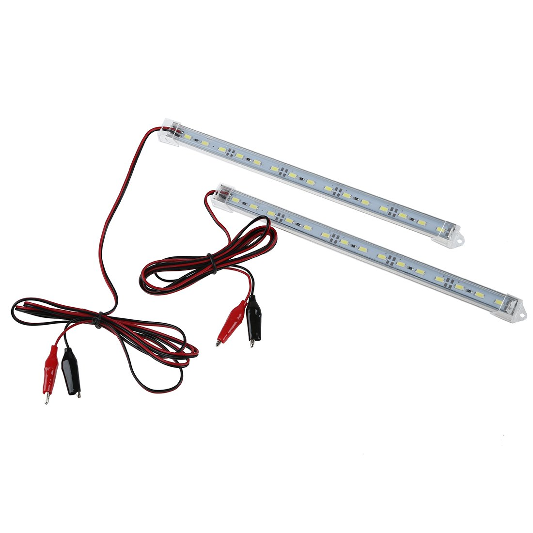 VYNBDA 2pc 12V Car 15 LED 5630 SMD Luz de tira Interior Lampara Bar Camioneta Caravana Pecera