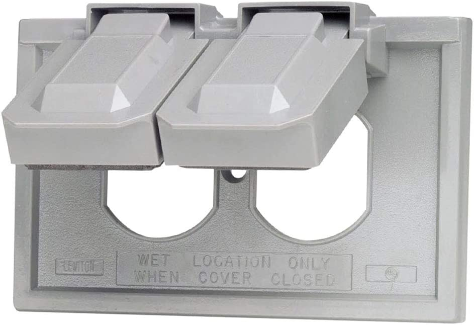 Device Mount Product Dimensions: 3 x 0.72 x 4.56 inches Gray 1-Gang Duplex Device Wallplate Cover Horizontal
