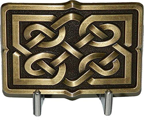 Rectangular Celtic Knot - Irish Celtic Knot Antique Brass Finish Rectangular Belt Buckle