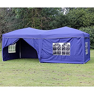 Palm Springs 10 x 20 Pop-up BLUE Canopy w/ 6 Side Walls EZ to set up