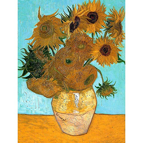 (Wee Blue Coo Vincent Van Gogh Still Life Vase with Twelve Sunflowers Old Unframed Wall Art Print Poster Home Decor Premium)