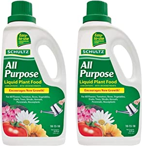 SCHULTZ All Purpose 10-15-10 Liquid Plant Food, 32-Ounce (2 Pack)