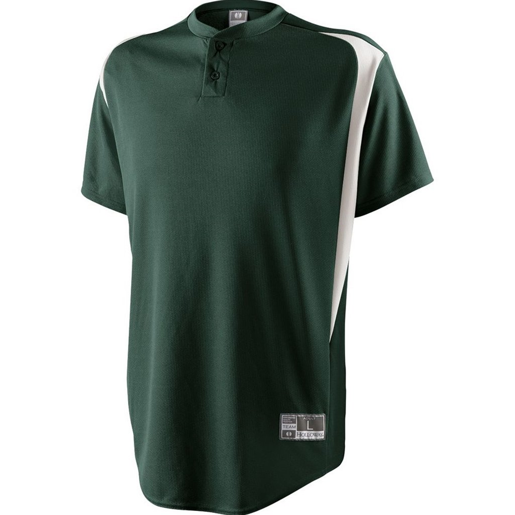Holloway Youth Razor Jersey (Small, Forest/White)