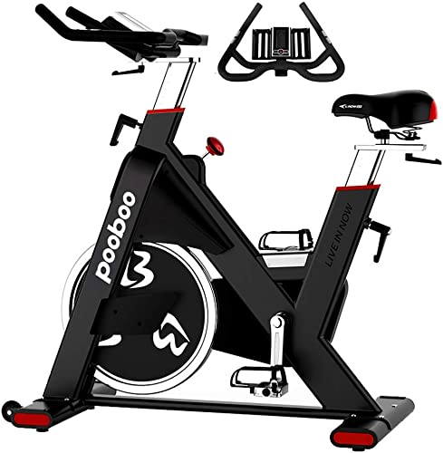 pooboo Indoor Cycling Bike 44lbs Flywheel Exercise Bike Belt Drive Stationary Bicycle