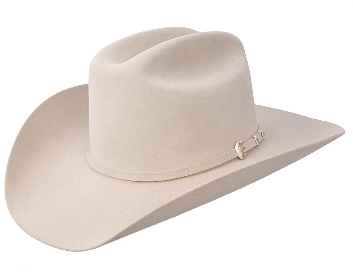 Stetson 30X El Patron Silver Belly Felt Cowboy Hat at Amazon Men s Clothing  store  b54a8e53065