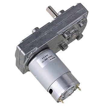 BQLZR 12V 6RPM Velocidad sin carga Motor eléctrico de caja de ...