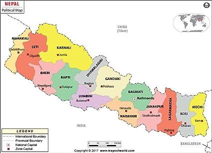 Cartina Mondo Nepal.Nepal Mappa Politica Laminato 91 4 Cm W X 65 8 Cm H Amazon It Cancelleria E Prodotti Per Ufficio