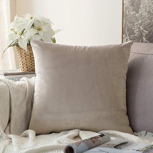 Amazon.com: MIULEE Velvet Soft Solid Decorative Square Throw