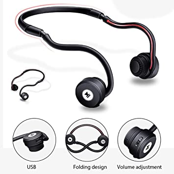 0b42286f673 Bone Conduction Headphones, niceEshop(TM)[New Version]Sweatproof Wireless  Bluetooth Earphones