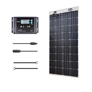 160W  RENOGY フレキシブル 充電コントローラ(PWM)付 ソーラーパネル