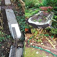 YAOBLUESEA Bordes de jardín Bordes para jardín Bordes jardín Borde jardín plástico PVC 10mx10cm Gris: Amazon.es: Jardín