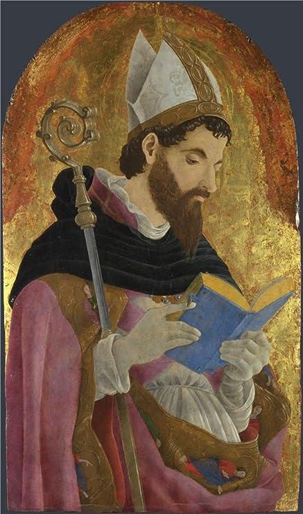 Amazon.com: Oil Painting \'Marco Zoppo A Bishop Saint Perhaps Saint ...