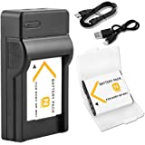 BPS NP-BN1 Battery + USB Charger Li-ion ,replacement for Sony NP-BN1 NP-BN Battery,Sony Cyber-Shot DSC-W800,DSC-WX220,DSC-W830,DSC-W810,DSC-W800,DSC-QX30,DSC-QX100,DSC-QX10 Digital Camera