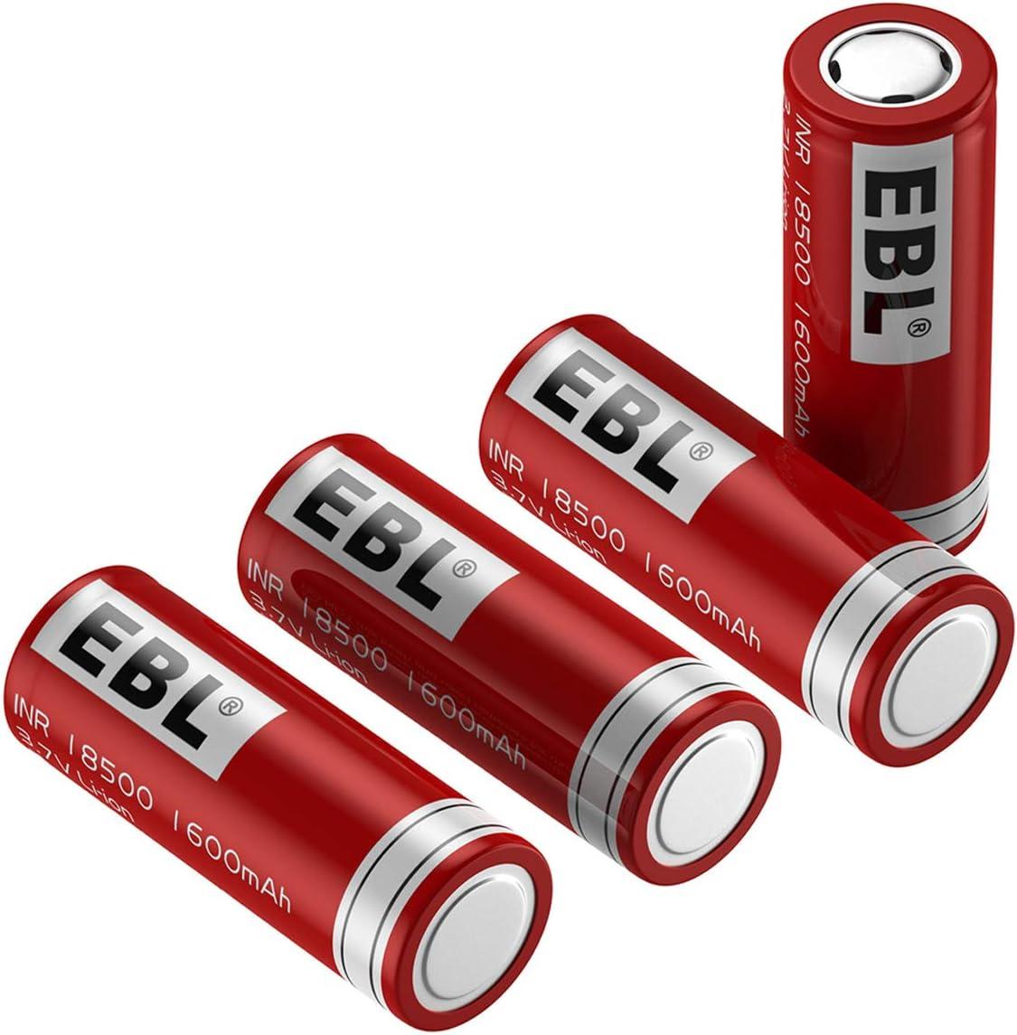 Solar Garden Light EBL 18500 Rechargeable Batteries 3.7V 1600mAh for Flashlight