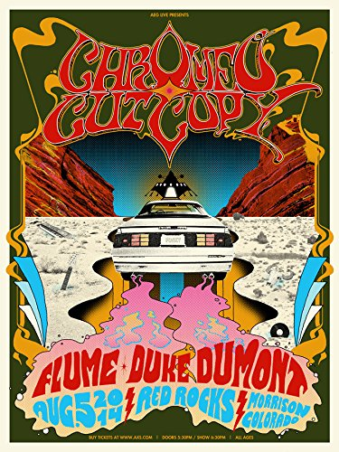 Burlesque of North America Chromeo and Cut Copy at Red Rocks 2014 Show Poster (Best Shows At Red Rocks)