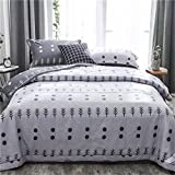 Nokolulu Bedding Cotton Grove Print 3 Size Lightweight Summer Washable Comforter Microfiber Blanket Quilted Throw Quilt(Grove,79''x91'')