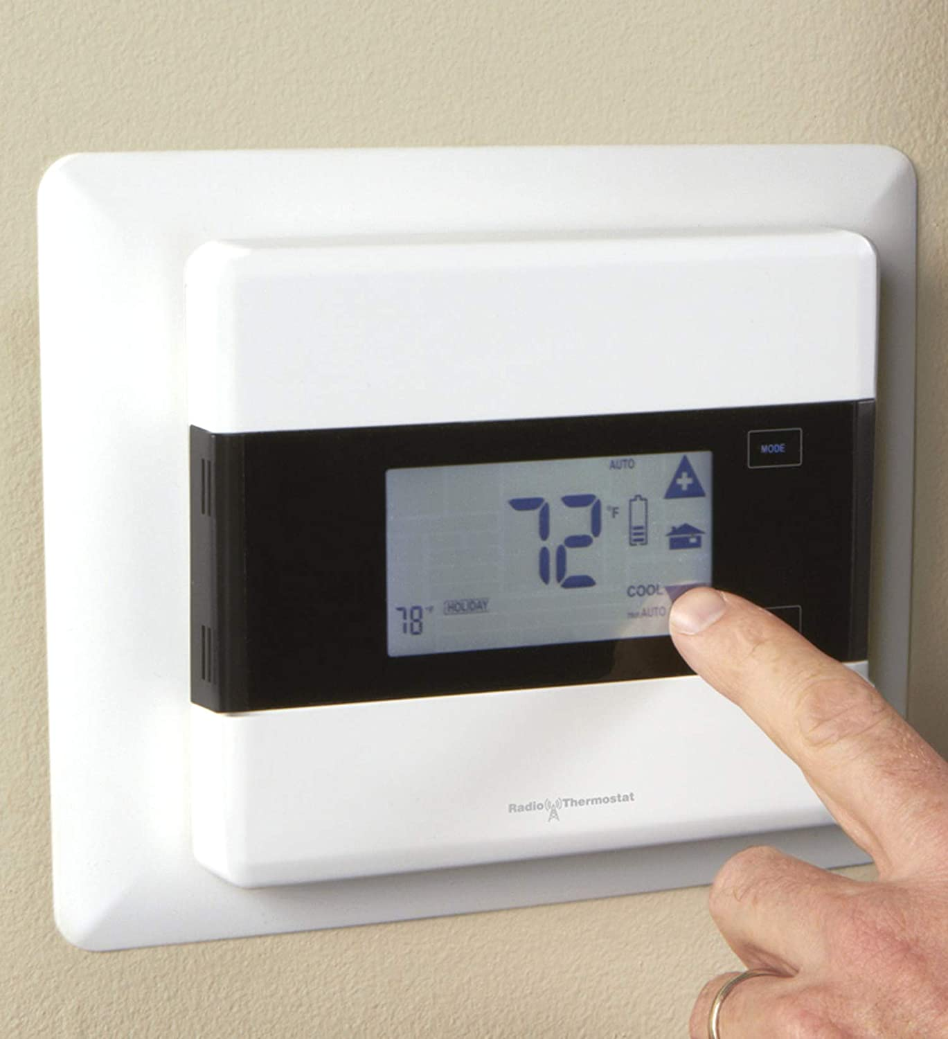 Iris 7 Day Touch Screen Programmable Thermostat Works With Wiring Household Thermostats