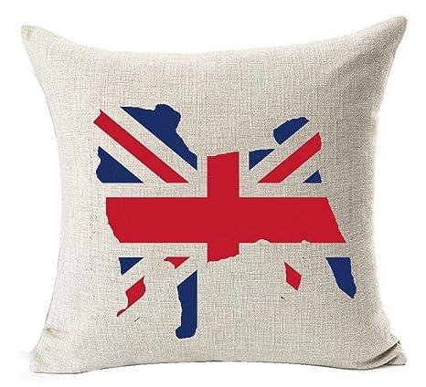 Creative Union Jack Pet Dog Lovely English Bulldog Cotton ...