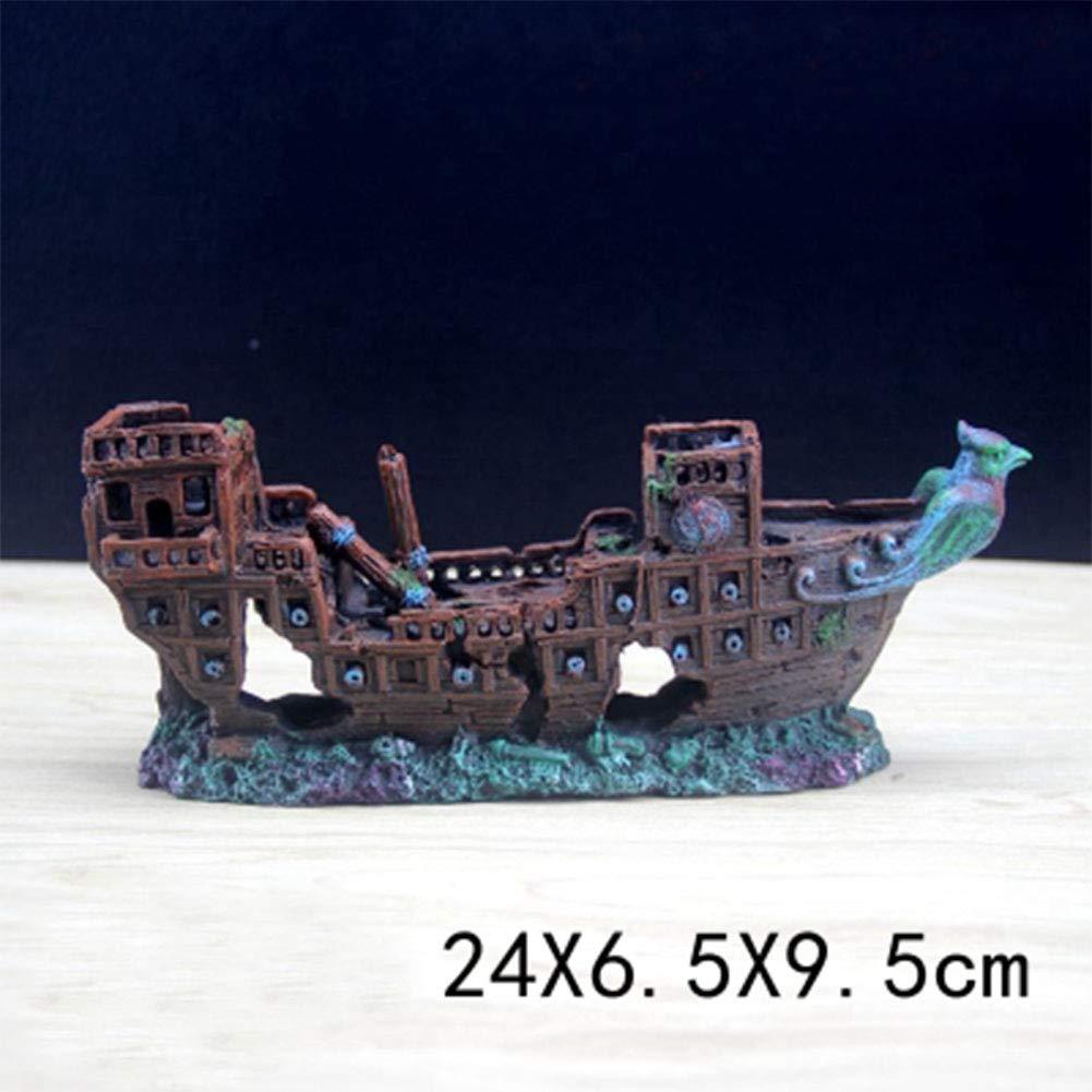 HR Creative Fish Tank Rockery - Decoración para Acuario, Tarro Creativo y Creativo, joyería Creativa de Coral Falso, Barco Pirata: Amazon.es: Productos para ...