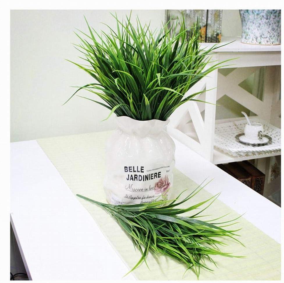 Alivier Artificial Aquarium Fish Tank Plastic Green Grass Plants Fake Leaves Household Decoration