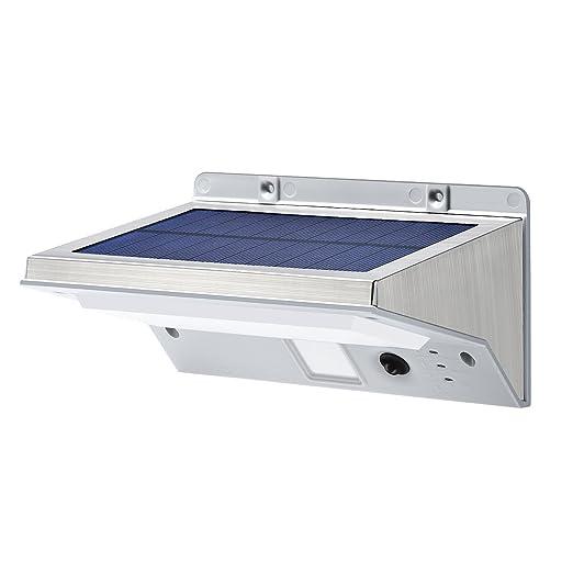 Amazon.com: Luces solares para exterior, Opernee, de acero ...
