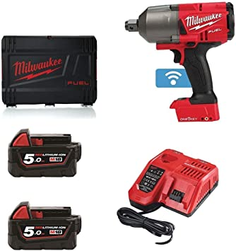 """Milwaukee M18ONEFHIWF34-502X FUEL One Key 3//4/"""" Impact Wrench 2 x 5.0Ah Charger"""