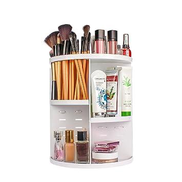 ELOKI 360 Makeup Organizer, DIY Detachable Spinning Cosmetic Makeup Caddy  Storage DIsplay Bag Case Large