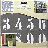 Decoart DECADS-K.409 Decor Stencil 18x18 Numbers Americana Decor Stencil 18x18 Numbers
