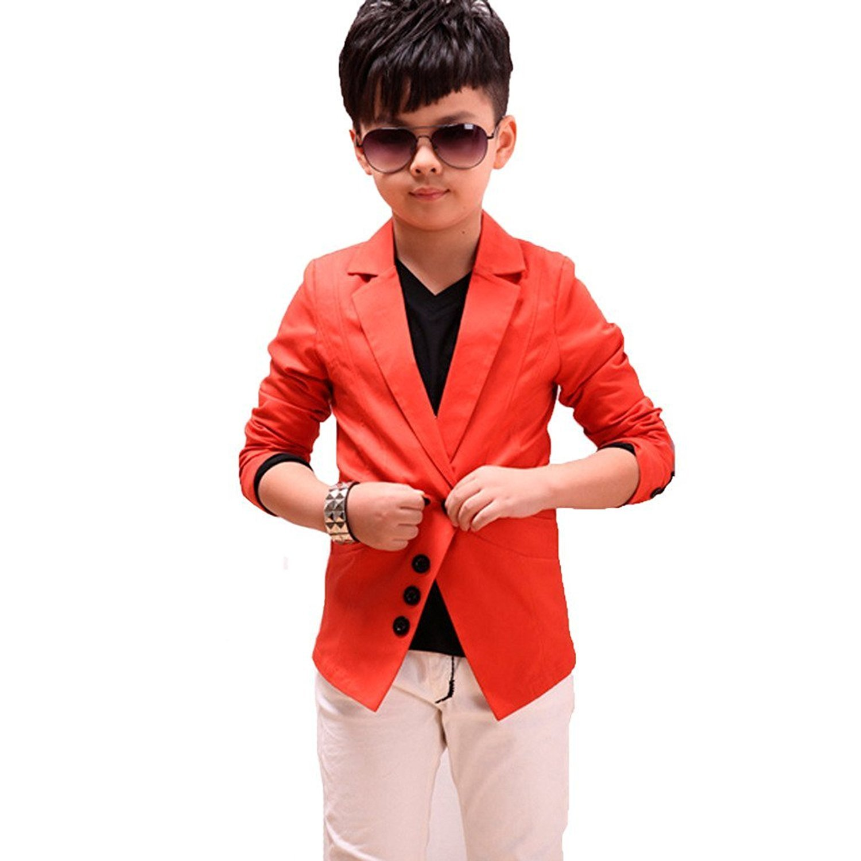 Boy's Causal Jakcet Blazer Gentleman Style Outerwear Clothing