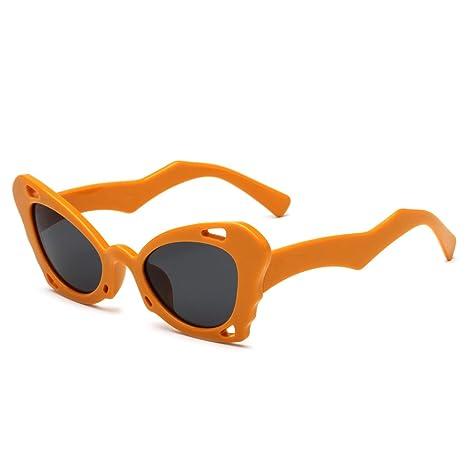 RDJM Occhiali da sole per uomo e donna, occhiali da sole stile Irregular Personalità europea e americana, tendenza Frog Mirror, F