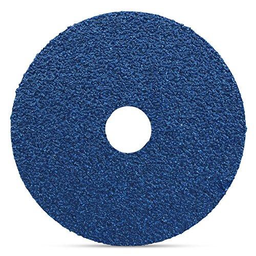 Black Hawk Zirconia Resin Fiber Sanding & Grinding Discs, 24 Grit, 4.5-Inch x 7/8-Inch Arbor Hole, Pack of 25