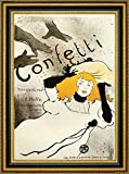 "This 17"" x 23"" framed premium canvas print of Confetti by Henri De Toulouse-Lautrec is meticulously created on artist grade canvas utilizing ultra-precision print technology and fade-resistant archival inks. Every detail of the artwork is reproduced ..."