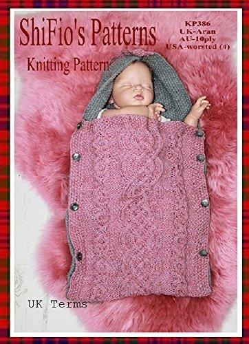 (Knitting Pattern - KP386 - baby sleeping bag cocoon - 0-6mths - UK Terminology)