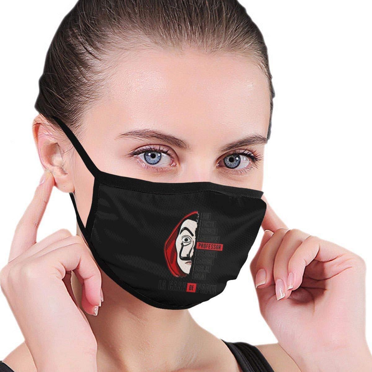 HAIRUSU Casa De Papel Maschere antipolvere alla moda unisex Modello elegante Maschera per uomini Donne Attività all'aperto