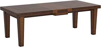 Ashley Furniture Signature Design - Larchmont Dining Room Table - Old World Style - Burnished Dark Brown