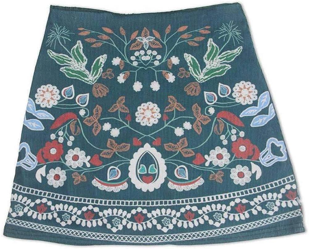 GYYWAN Falda Minifalda De Estilo Bohemio Corto con Estampado ...