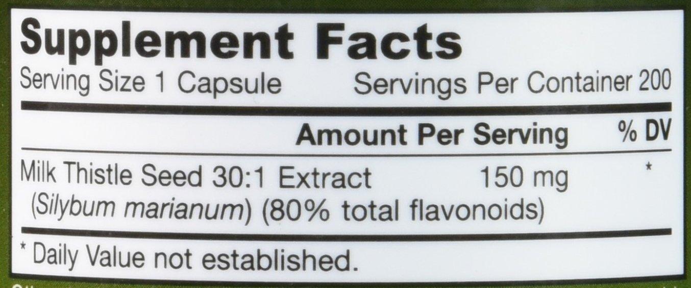 Jarrow Formulas Milk Thistle (Silymarin Marianum), Promotes Liver Health, 150 mg per Capsule, 200 Veggie Capsules by Jarrow Formulas (Image #2)