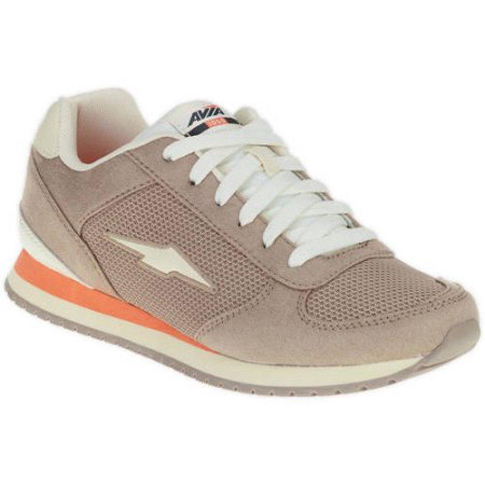 Avia Womens Retro Jogger Shoe Tan//Gray