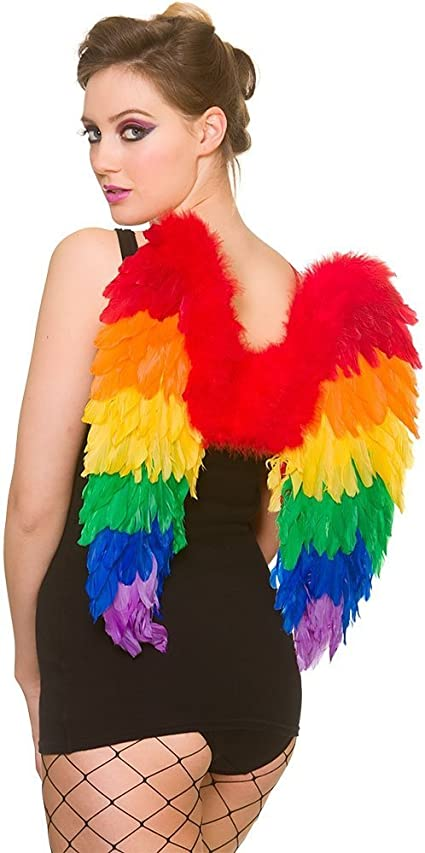 Rainbow Feather Angel Wings Fancy Dress Costume Accessory Book Week Day Outfit