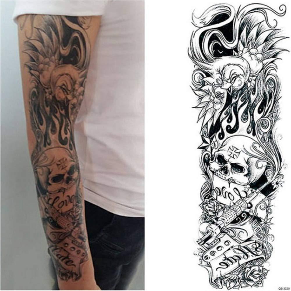 Brazo grande Tatuaje Apliques Flor rosada Hombro Tatuaje Hombre ...
