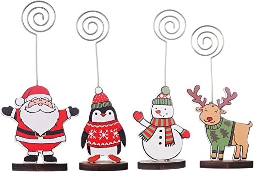 Renne Di Babbo Natale Nomi.Happyyami 4pcs Segnaposti Segnaposto Natalizio Renna Da Tavolo Babbo Natale Porta Nome Portafoto In Legno Per Decorazione Festa Di Natale Amazon It Fai Da Te