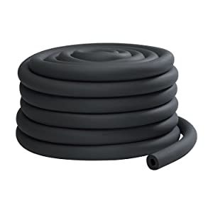 """7/8"""" ID x 1/2"""" Thick x 75' Continuous Coil Pipe Insulation"""