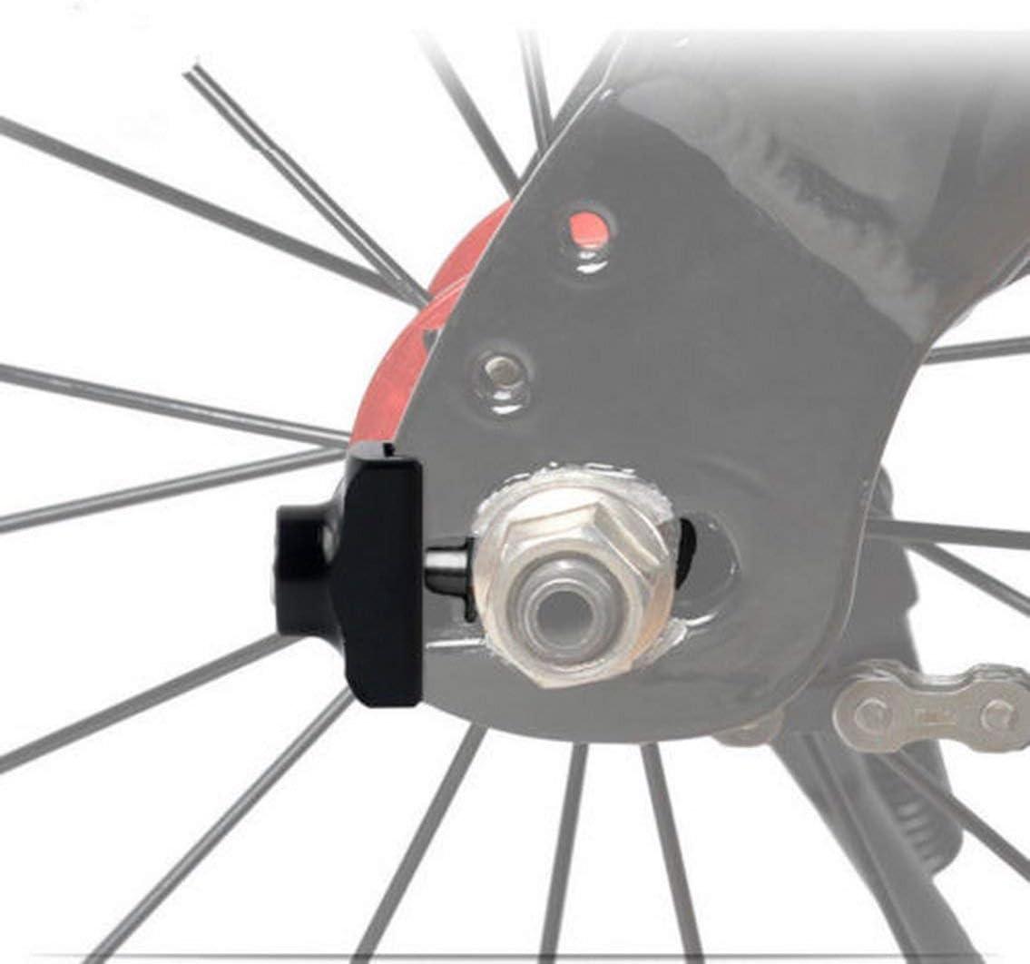 Panamami Bicicleta Plegable Ultraligero Aluminio BMX Tensor de Cadena Sujetador Ajustador de Cadena DIY Modificaci/ón Especial//Negro