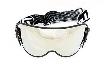 Raleri - Visera universal transparente con correa elástica para cascos Café Racer y