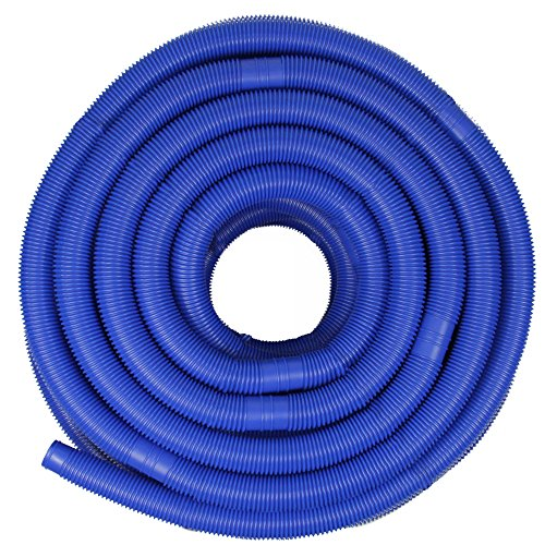 Blue Blow-Molded PE In-Ground Swimming Pool Cuttable Vacuum Hose 147.5' x 1.25