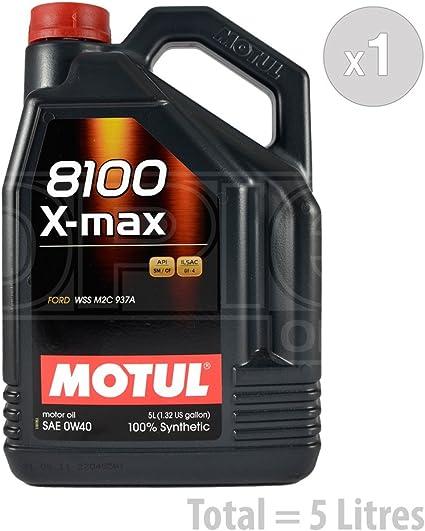 Motul 8100 X Max 0w 40 Fully Synthetic Car Engine Service Bundle 5 Litres Auto
