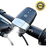 SHENKEY  LED自転車ライト 自転車前照灯 自転車ヘッドライト 高輝度USB充電 IP65防水 コンパクト 軽量