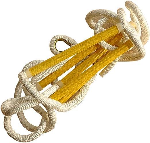 ZWYY Escalera de Cuerda para Interiores/Exteriores, Resistente Escalera de Cuerda para Ejercicios - Cuerda Colgante de Escalada para niños Adultos - Escalera de Cuerda para Columpios: Amazon.es: Jardín