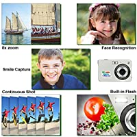 HD Mini Digital Camera with 2.7 Inch TFT LCD Display,Kids Childrens Point and Shoot Digital Video Cameras Silver--Sports,Travel,Holiday,Birthday Presen by Yasolote