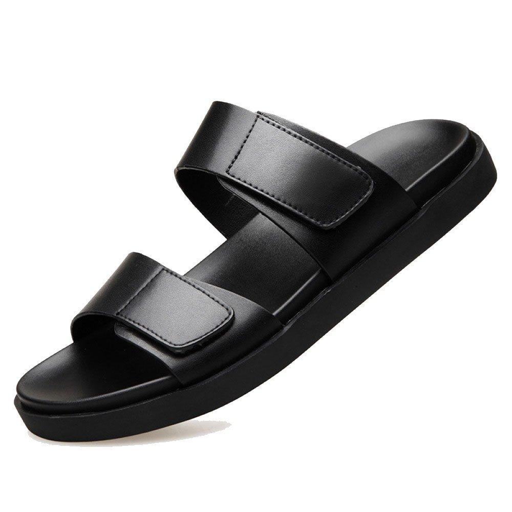 Zapatillas De Hombre De Verano Sandalias Zapatos De Hombre Ocasionales 43 EU|Black